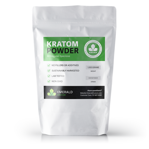 Emerald Kratom Powder 1 KG Bag Back
