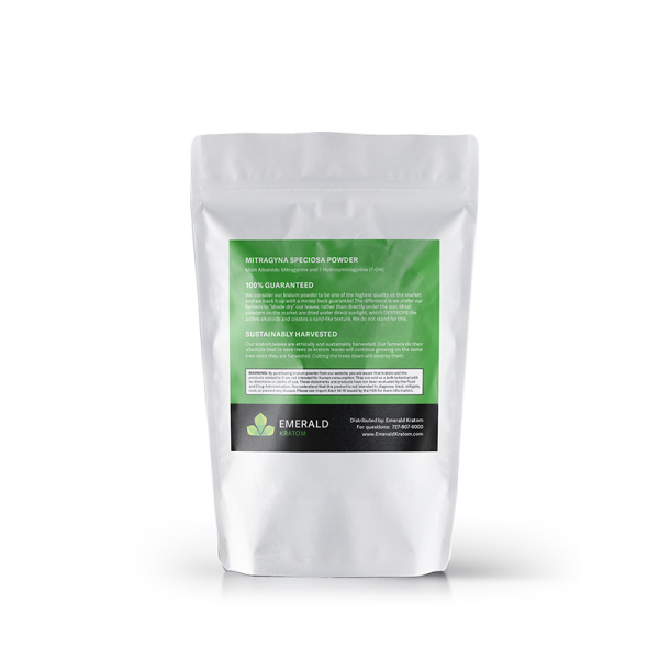 Emerald Kratom Powder 50 Gram Back Bag
