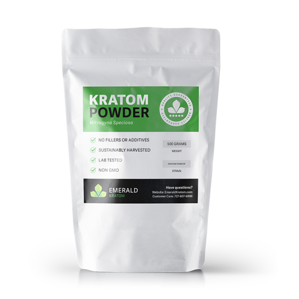 Emerald Kratom Powder 500 Gram Bag